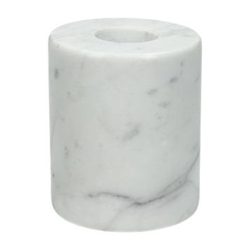 Marmer witte  kaarsen houder 5.5x5.5x6.5cm