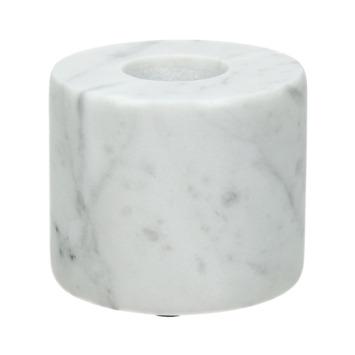 Marmer witte  kaarsen houder 5.5x5.5x4.5cm