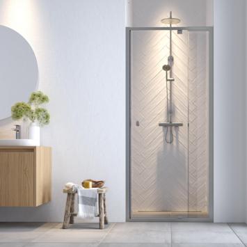 Get Wet Hooked verstelbare draaideur voor douche nis 100x200 cm Chroomkleur
