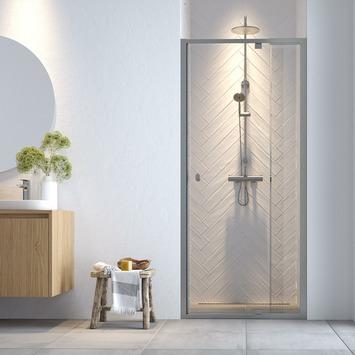 Get Wet Hooked verstelbare draaideur voor douche nis 90x200 cm chroomkleur