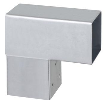 Paalhouder voor pergola hoekstuk 2-kants 9x9 cm gegalvaniseerd