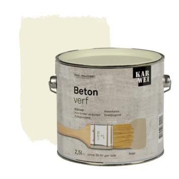 KARWEI betonverf mat beige 2,5 liter