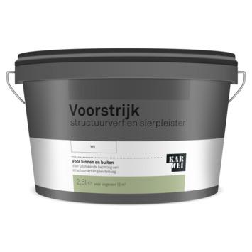 KARWEI voorstrijk structuurverf en sierpleister wit 2,5 liter