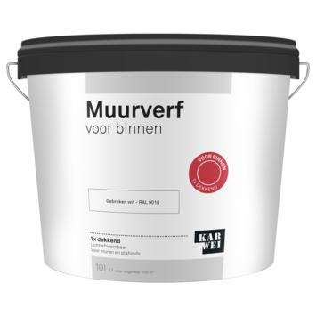 KARWEI muur- en plafondverf binnen RAL 9010 gebroken wit 10 liter