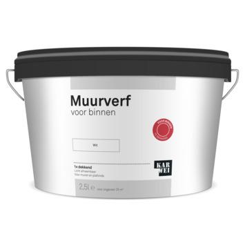 KARWEI muur- en plafondverf binnen wit 2,5 liter