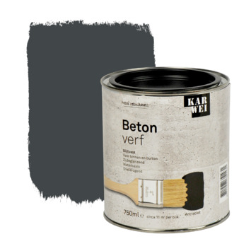 KARWEI betonverf mat antraciet 750 ml