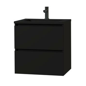 Tiger Karlo badkamermeubel 60 cm Mat Zwart met zwarte wastafel