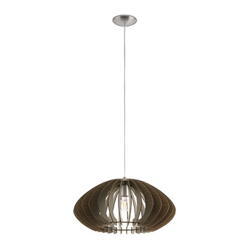 Eglo hanglamp Cossano Ø50 cm donkerbruin