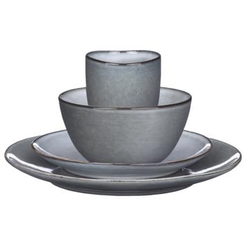 Tabo serviesset grijs 16-delig