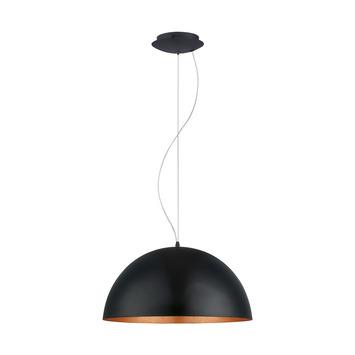 Eglo hanglamp Gaetano zwart/koper