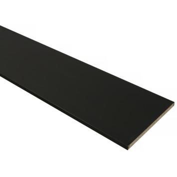 Meubelpaneel ABS zwart 240x30 cm dikte 18 mm