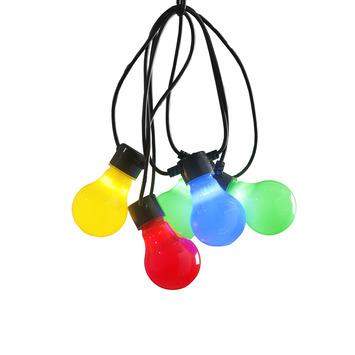Feestverlichting lichtsnoer 10 multicolor LED lampen