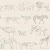 Vliesbehang safari creme (dessin 104894)