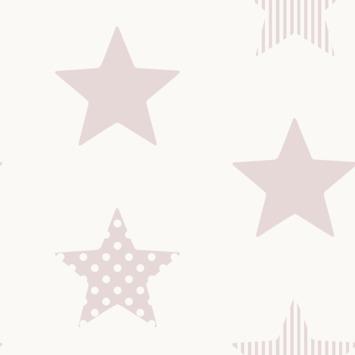 Vliesbehang superster roze (dessin 108560)