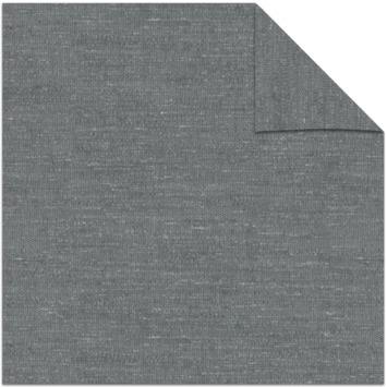 vtwonen kleurstaal lichtdoorlatend rolgordijn grijs open structuur (5917)