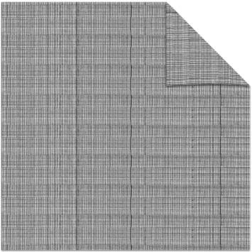 vtwonen kleurstaal lichtdoorlatend plisségordijn linnen antraciet (38050)