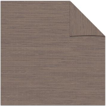 KARWEI kleurstaal lichtdoorlatend rolgordijn structuur bruin (14317)