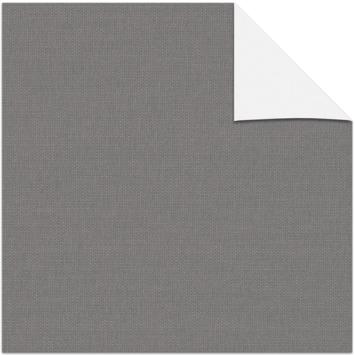 KARWEI kleurstaal verduisterend rolgordijn linnenlook antraciet (3664)