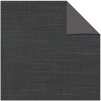 Le Noir & Blanc kleurstaal verduisterend rolgordijn grey (5641)