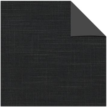Le Noir & Blanc kleurstaal verduisterend rolgordijn black (5642)