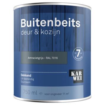 KARWEI buitenbeits deur & kozijn dekkend RAL 7016 antracietgrijs 750 ml