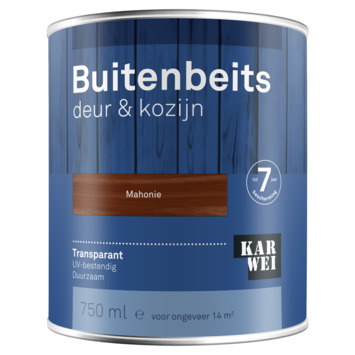 KARWEI buitenbeits deur & kozijn transparant mahonie 750 ml