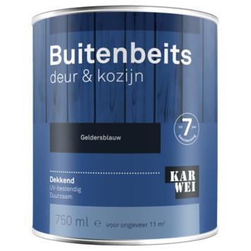 KARWEI buitenbeits deur & kozijn dekkend geldersblauw 750 ml