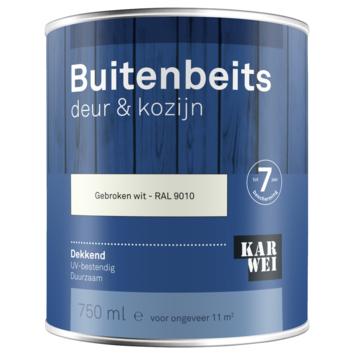 KARWEI buitenbeits deur & kozijn dekkend RAL 9010 gebroken wit 750 ml