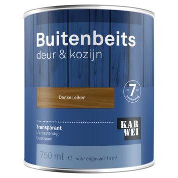 KARWEI buitenbeits deur & kozijn transparant donker eiken 750 ml