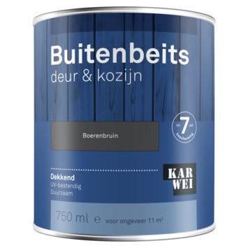 KARWEI buitenbeits deur & kozijn dekkend boerenbruin 750 ml