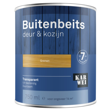 KARWEI buitenbeits deur & kozijn transparant grenen 750 ml