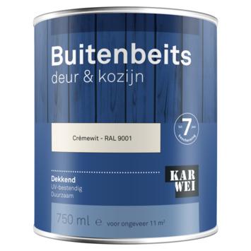 KARWEI buitenbeits deur & kozijn dekkend RAL 9001 crème wit 750 ml