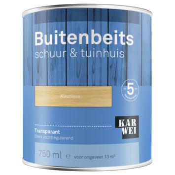KARWEI buitenbeits schuur & tuinhuis transparant kleurloos 750 ml
