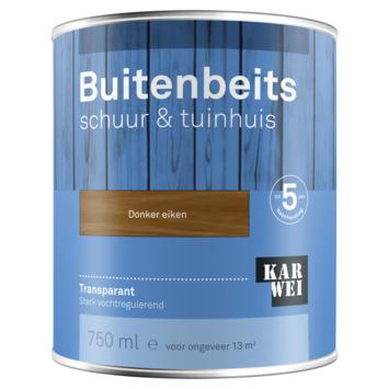 KARWEI buitenbeits schuur & tuinhuis transparant donker eiken 750 ml