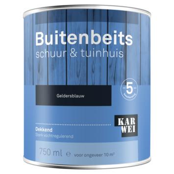 KARWEI buitenbeits schuur & tuinhuis dekkend geldersblauw 750 ml