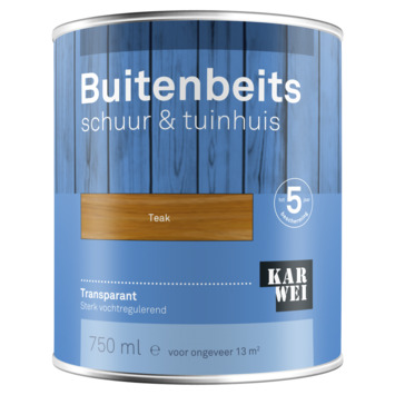 KARWEI buitenbeits schuur & tuinhuis transparant teak 750 ml