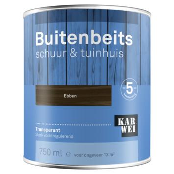 KARWEI buitenbeits schuur & tuinhuis transparant ebben 750 ml