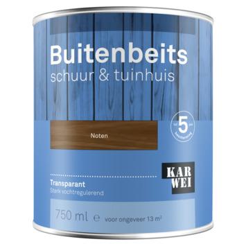 KARWEI buitenbeits schuur & tuinhuis transparant noten 750 ml