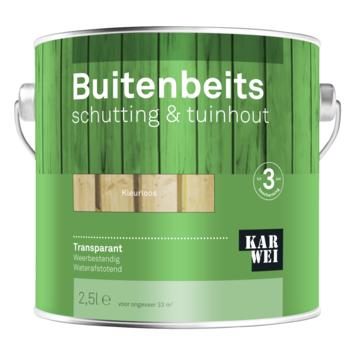 KARWEI buitenbeits schutting & tuinhout transparant kleurloos 2,5 liter