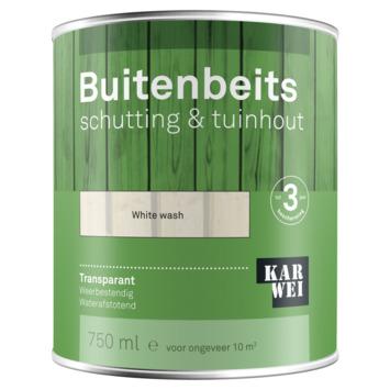 KARWEI buitenbeits schutting & tuinhout transparant white wash 750 ml
