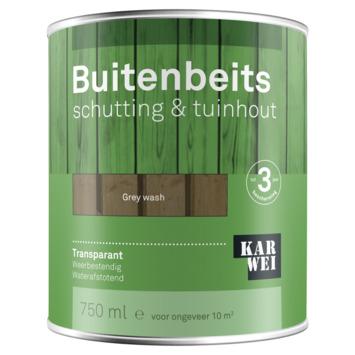 KARWEI buitenbeits schutting & tuinhout transparant grey wash 750 ml