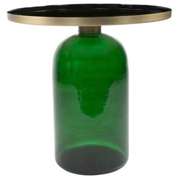 Bijzettafel Soof glas metaal donkergroen