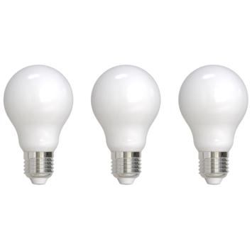 Handson LED filament peerlamp melkglas E27 7W 806LM 3-pack