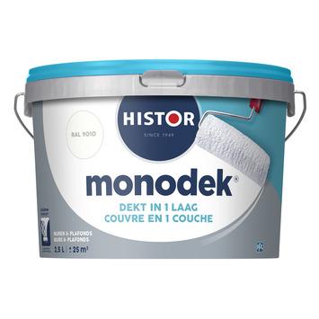 Histor Monodek muurverf mat gebroken wit 9010 2,5 l