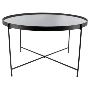 Salontafel Fabrice zwart/spiegelglas 69 cm