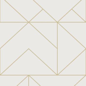 Vliesbehang geo goud (dessin 111533)