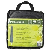 Parasolhoes zwart h250 cm