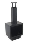 Sfeerhaard metaal zwart 137x50x49 cm