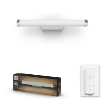 Philips Hue Adore badkamer spiegelverlichting 1x13W wit/chroom incl. switch en bluetooth