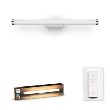 Philips Hue Adore badkamer spiegelverlichting 1x20W rond wit/chroom incl. switch en bluetooth